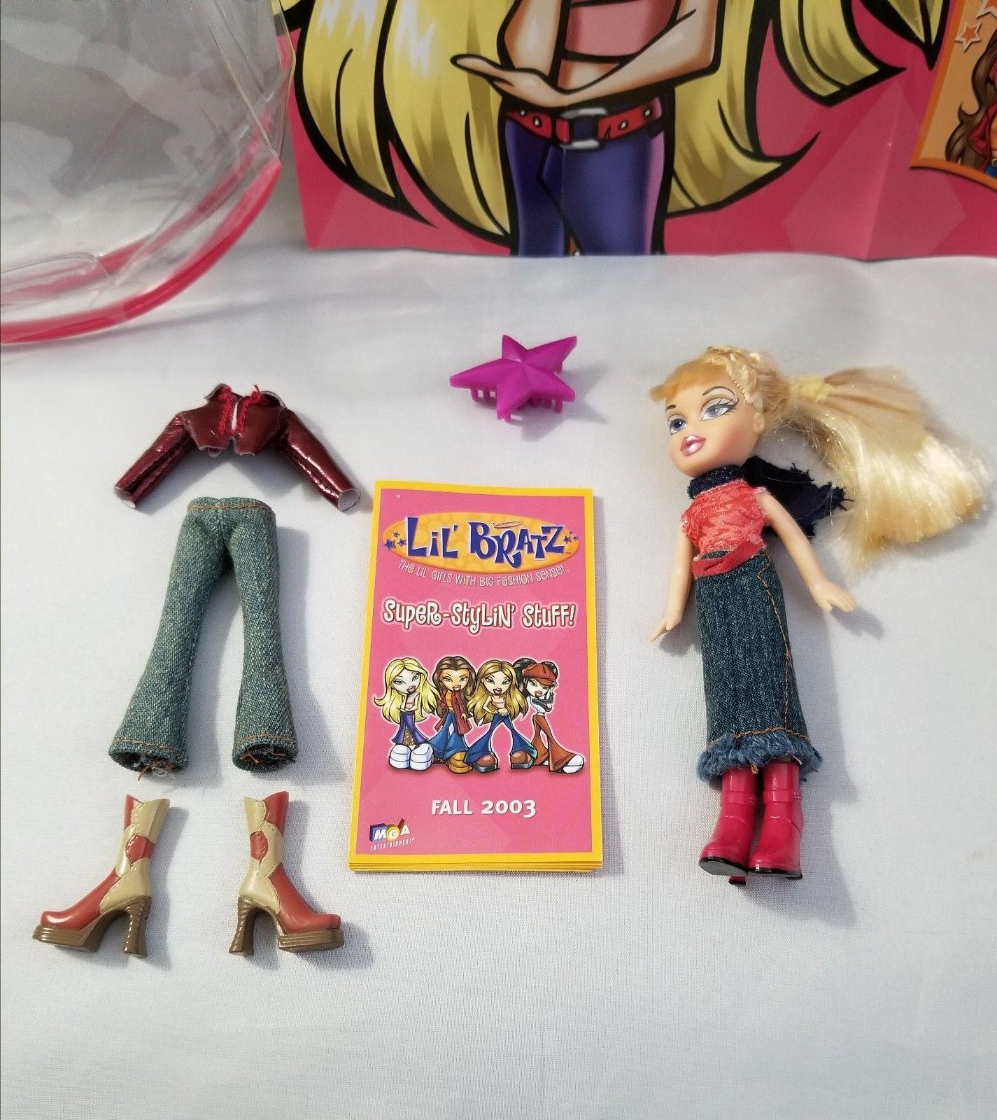 "MGA Lil Bratz Girls Mini Cloe Doll 4.5"" Fashion Accessory Play Toy Storage Bag"