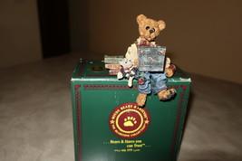 "Boyds Bears Bearstone Figurine ""Neville . . . Compubear"" Shelf Sitter - $25.00"