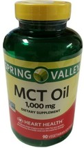 Spring Valley MCT Oil 1000 mg, Heart Health, 90 Softgels - $15.83