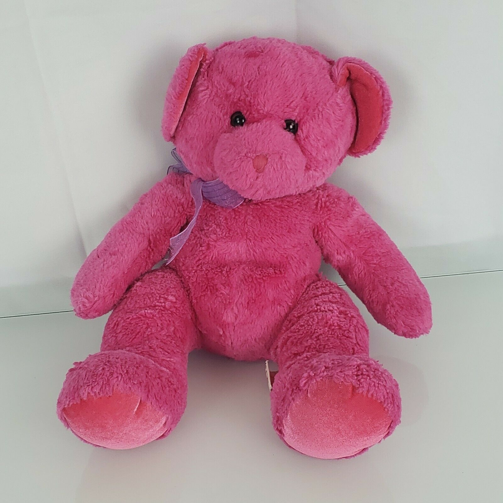 "Primary image for Russ Berrie Venus Stuffed Plush Fuchsia Hot Pink Teddy Bear 10"" 14"""