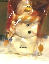CHRISTMAS ORNAMENTS WHOLESALE- SNOWMAN- 13351 -'RYAN'-  (6) - NEW -W74 - $5.83