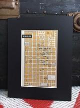 """City Map of Salt Lake Utah 1958 Mid Century Black Matted 8""""x10"""" Art Prin... - $18.70"""