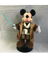 DISNEYLAND Plush MICKEY MOUSE as Star Wars Jedi Warrior with Lightsaber - $17.16