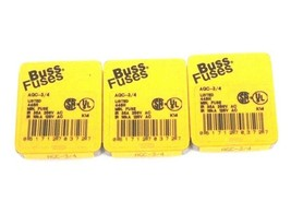 LOT OF 15 NEW BUSSMANN FUSETRON AGC-3/4 FUSES 3/4 AMP