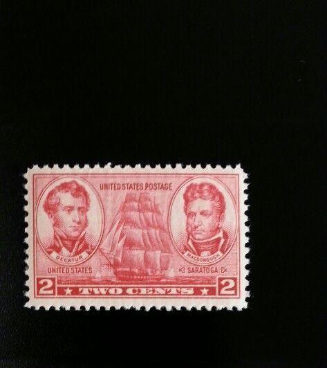 1937 2c Decatur & Macdonough, U.S. Naval Officers Scott 791 Mint F/VF NH
