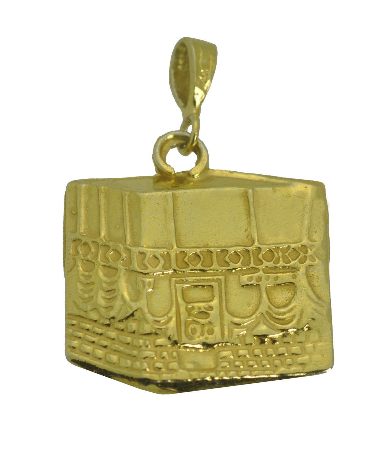 Solid Real Genuine 10K Yellow Gold Kaaba Mecca Hajj Charm Pillar Islam Allah