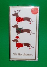 8 Christmas Holiday Cards with Envelopes - 3 Dachshund Tis the Season - $12.50
