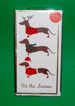 8 Christmas Holiday Cards with Envelopes - 3 Dachshund Tis the Season - $12.50
