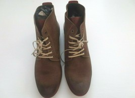 Kenneth Cole New York Smart Alec Suede Boot Men Shoes - Olive - Size 10 - NEW - $49.99