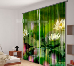 3D Pure Lotus 8 Blockout Photo Curtain Printing Curtains Drapes Fabric Window CA - $147.54+