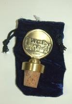 Judaica Bottle Stopper Jerusalem Old City Relief Israel Amulet Charm Brass image 3