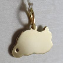 18K WHITE & YELLOW GOLD LITTLE CAT FLAT PENDANT FINELY WORKED, MADE IN ITALY image 3
