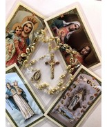 25 Bead Rosary Bundle - EB562 - Gold Link Glass Crystal 19 Inch 4 Prayer... - $19.99