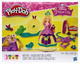 Hasbro* 7pc Set PLAY-DOH Modeling Compound+Mold+Stamper Disney Princess 3 Colors - $9.99