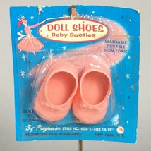 "vintage pink baby doll shoes, progressive doll bootie shoes for 14""-15"" ... - $23.79"