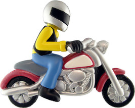 Motorcycle Rider Personalized Christmas Tree Ornament - $14.95
