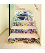 Miico 6Pcs/set Creative Cartoon Blue Undersea Stair Sticker Home Decor M... - $37.99