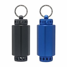 Shintop 2pcs Waterproof Pill Container, Aluminum Pill Box Keychain for C... - $11.25