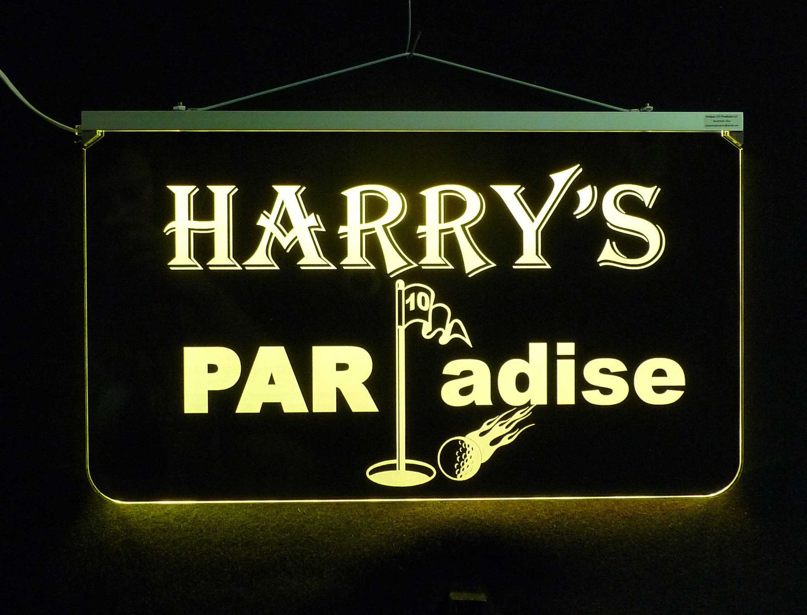 Personalized Golfer LED Man Cave Sign- Garage Sigh, Bar sign, Gift for Dad