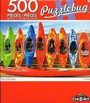 Cra-Z-Art Row of Colorful Kayaks Puzzlebug - 500 Piece Jigsaw Puzzle - $12.34