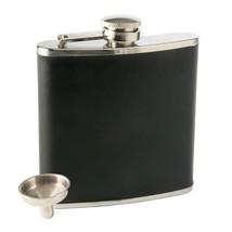 Insulated Flask, Black Faux Leather Novelty Unique Vintage Liquor Flask - €18,57 EUR