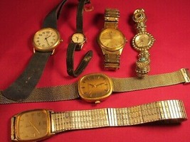 Lot of 6 Broken ANALOG Electric WATCH Non-working CARVELLE Timex PEUGEOT... - $91.20