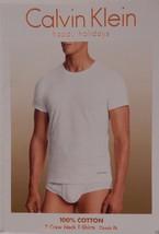 3 Calvin Klein 100% Cotton White Crew Neck T Shirts Undershirts S M L Xl Xxl Nip - $29.60+