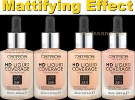 Catrice Cosmetics HD Liquid Coverage Foundation Mattifying Effect 24h 30ml - $16.19