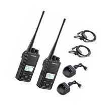 Fpcn10A Two Way Recharable 3000Mah Battery Business Uhf Handheld Ham Lon... - $172.99