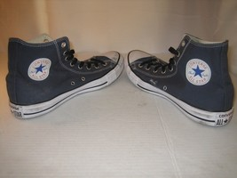 NAVY BLUE HI TOP ALL STAR CONVERSE MENS SIZE 11 WOMANS 13 UK 11 M9622 OX... - $29.70
