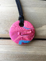 Clay Essential Oil Diffuser Necklaces! Handmade. - $18.00