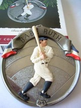 MIB 1994 Hallmark Ornament Baseball Heroes Babe Ruth # 1 Series - $9.90