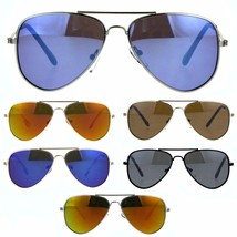 Kids Reflective Color Mirror Metal Rim Officer Sunglasses - $9.95