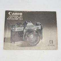 Canon AE-1 Genuine Original User Instruction Manual Booklet Printed In J... - $14.84