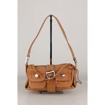 Authentic Christian Dior Tan Leather Flight Bag Shoulder Bag - $292.05