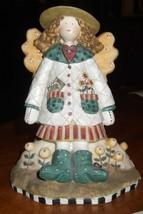 Debbie Mumm Greta the Garden Angel Figurine amcal collectible - $15.88