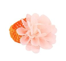 Elegant Orange Lotus Girl Headdress Lace Headband Baby Accessories