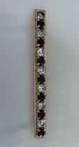 Savvy Gold Plated Pin Set with Swarovski Full Lead Purple & Clear Crystals - $24.74