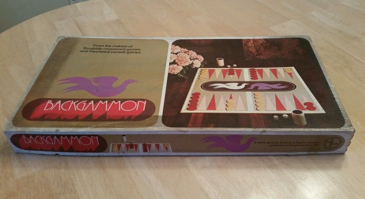 Vintage 1975 Backgammon Game Selchow & and 13 similar items