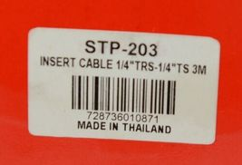 Hosa Technology STP203 Insert Cable Quarter Inch TRS To Dual Same TS image 3