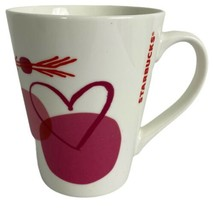 Starbucks Coffee Love4 Heart Red Pink Coffee Mug Cup replacements 2016  - $12.59