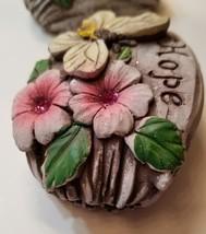 Decorative Stones Set of 3 Garden Decor Love Peace Hope Painted Rock image 5