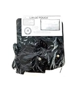 Large Easy DIY Leather Pouch Craft Kit #1306 Black Craft Pouch Brand New - $14.01