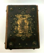 Vintage Very Rare Antique Wooden Box with Key and Ornaments for Pocket W... - $164.42