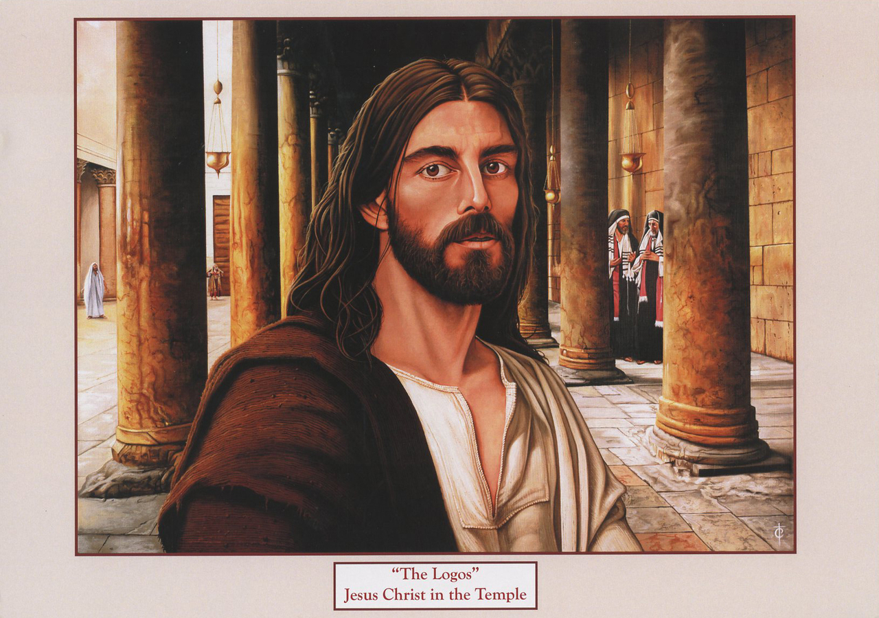 The logos   jesus christ in the temple   print   by tommy canning