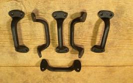 "Gate Handle Barn Door Pull Cast Iron 5 1/2"" long (Set of Six) 0184-0053 - $34.00"