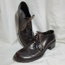 Via Spiga Ladies Oxfords Brown Leather Size 8.5 Made In Italy - $88.11