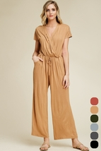 'New' Women's Solid Knit Jumpsuit. J8072-CAM - $25.00+