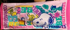 Snoopy Peanut Cartoon 34 X 80 Cm Courageous Imaginative Design Cotton Towel - $10.99