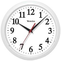 Westclox 461761 10 Basic Wall Clock (White) - $24.18